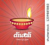 happy diwali creative design...   Shutterstock .eps vector #1209885883