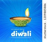 happy diwali creative design...   Shutterstock .eps vector #1209885886