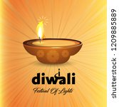 diwali design with yellow...   Shutterstock .eps vector #1209885889