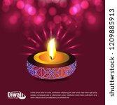 happy diwali creative design...   Shutterstock .eps vector #1209885913