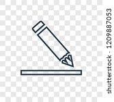 edit concept vector linear icon ...   Shutterstock .eps vector #1209887053