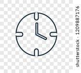clock concept vector linear...