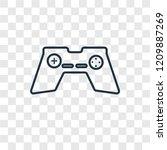 gamepad concept vector linear...