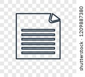 file concept vector linear icon ...