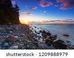 sunrise at baltic sea in gdynia ... | Shutterstock . vector #1209888979