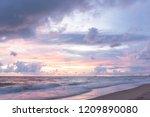 dramatic  golden  sky  over ... | Shutterstock . vector #1209890080