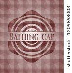 bathing cap red seamless emblem ...   Shutterstock .eps vector #1209898003