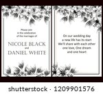 invitation greeting card with... | Shutterstock . vector #1209901576
