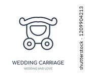 wedding carriage icon. wedding...   Shutterstock .eps vector #1209904213