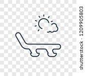 sunbed concept vector linear... | Shutterstock .eps vector #1209905803