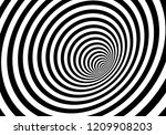 vector optical art illusion of... | Shutterstock .eps vector #1209908203