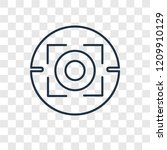 focus concept vector linear... | Shutterstock .eps vector #1209910129