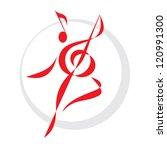 Dance Sign   Vector Logo...