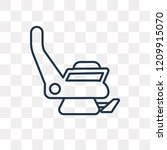airplane seat vector outline...   Shutterstock .eps vector #1209915070