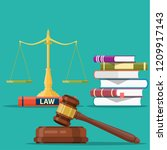concept justice. justice scales ... | Shutterstock . vector #1209917143