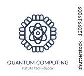 quantum computing icon. quantum ...   Shutterstock .eps vector #1209919009