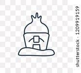 hut vector outline icon... | Shutterstock .eps vector #1209919159