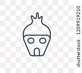 hut vector outline icon... | Shutterstock .eps vector #1209919210