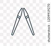 spear vector outline icon... | Shutterstock .eps vector #1209919270