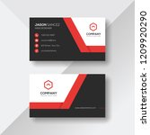 elegant business card with red... | Shutterstock .eps vector #1209920290
