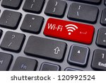 wifi concepts  with message on... | Shutterstock . vector #120992524