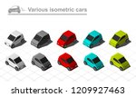set of isometric cars simple... | Shutterstock .eps vector #1209927463