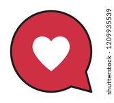 heart in a speech bubble ...   Shutterstock .eps vector #1209935539