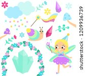 magic fairy set. collection of... | Shutterstock .eps vector #1209936739