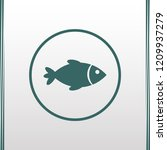 fish icon. vector fish... | Shutterstock .eps vector #1209937279