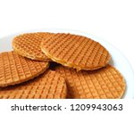 closed up stroopwafel cookies ... | Shutterstock . vector #1209943063