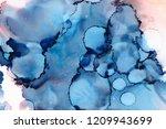 hand painted ink texture.... | Shutterstock . vector #1209943699