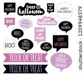 halloween letters vector... | Shutterstock .eps vector #1209948379