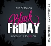 black friday sale card with... | Shutterstock .eps vector #1209948433