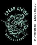 spear diving vector... | Shutterstock .eps vector #1209950110