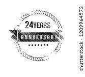grunge 24 years anniversary...   Shutterstock .eps vector #1209964573