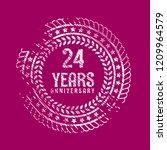 grunge 24 years anniversary...   Shutterstock .eps vector #1209964579