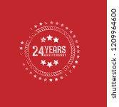 grunge 24 years anniversary...   Shutterstock .eps vector #1209964600
