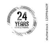 grunge 24 years anniversary...   Shutterstock .eps vector #1209964639