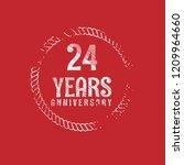 grunge 24 years anniversary...   Shutterstock .eps vector #1209964660
