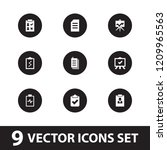 clipboard icon. collection of 9 ... | Shutterstock .eps vector #1209965563