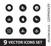 aqua icon. collection of 9 aqua ... | Shutterstock .eps vector #1209965659