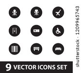 seat icon. collection of 9 seat ...   Shutterstock .eps vector #1209965743