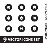 emotion icon. collection of 9... | Shutterstock .eps vector #1209966916
