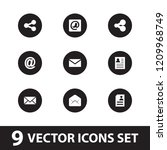 send icon. collection of 9 send ...   Shutterstock .eps vector #1209968749