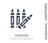 crayon icon. trendy flat vector ... | Shutterstock .eps vector #1209970693