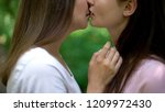 affectionate kiss of two... | Shutterstock . vector #1209972430