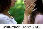 lesbian couple in love ... | Shutterstock . vector #1209972433