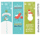 christmas and new year's banners | Shutterstock .eps vector #120997570