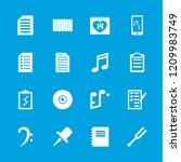 note icon. collection of 16... | Shutterstock .eps vector #1209983749