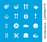 lunch icon. collection of 16... | Shutterstock .eps vector #1209983779